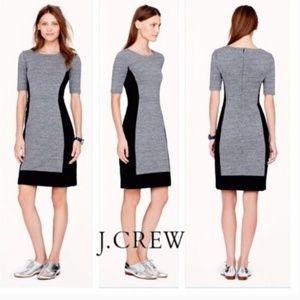 J. Crew Ponte Color Block Dress